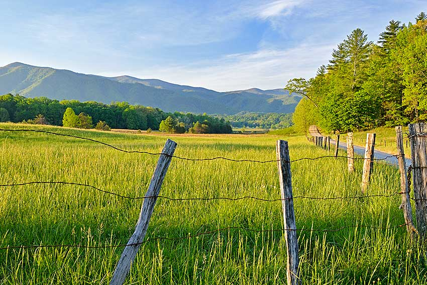 Cades Cove loop in the Smoky Mountains National Park