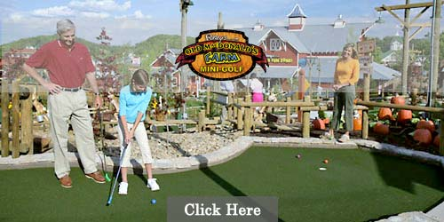 Mini golf course in Sevierville