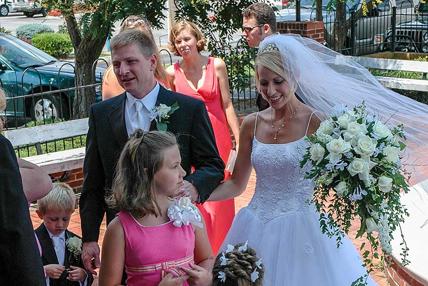 Smoky Mountain Wedding at a church