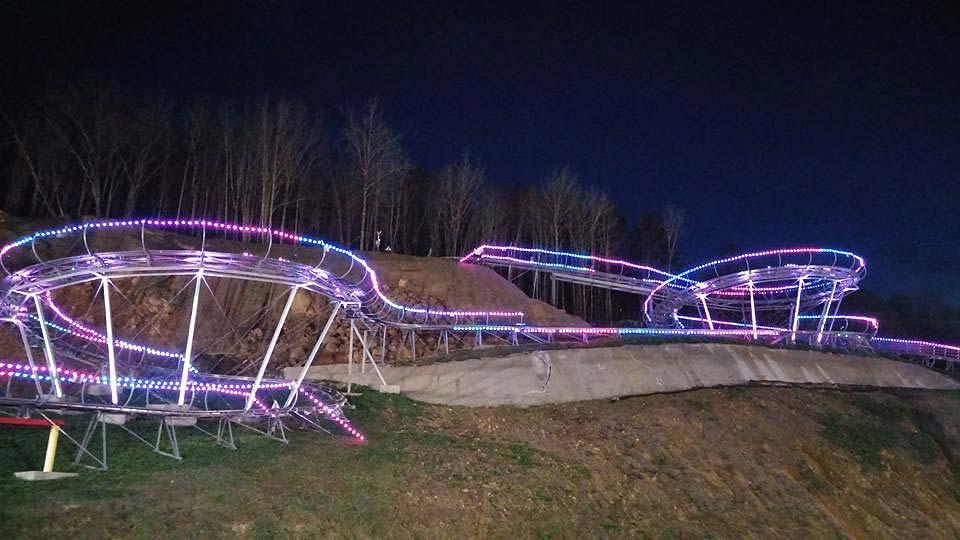 Nightlights coaster just down the road from Smoky Mountain Alpine Coaster.