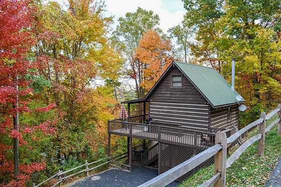Log Cabin Smoky Mountains: privacy on a budget