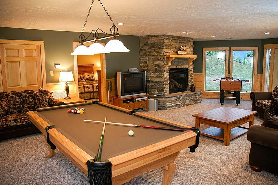 Game rooms offer in-house entertainment.
