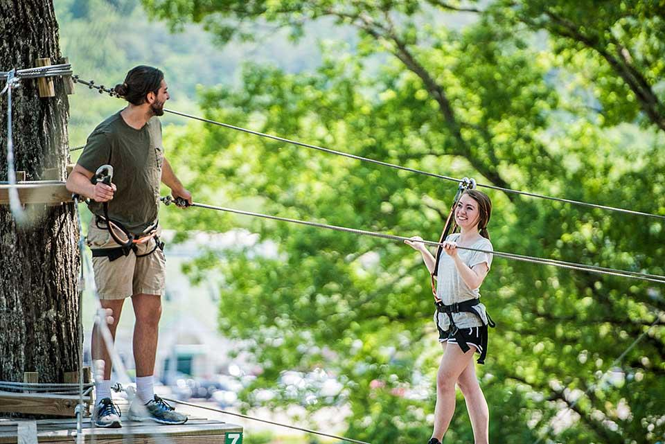 Adventure Park Tree Tops Ropes Course in Sevierville, Tennessee