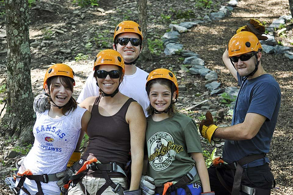 Wears Valley Ziplines is a great outdoor activity for the family.