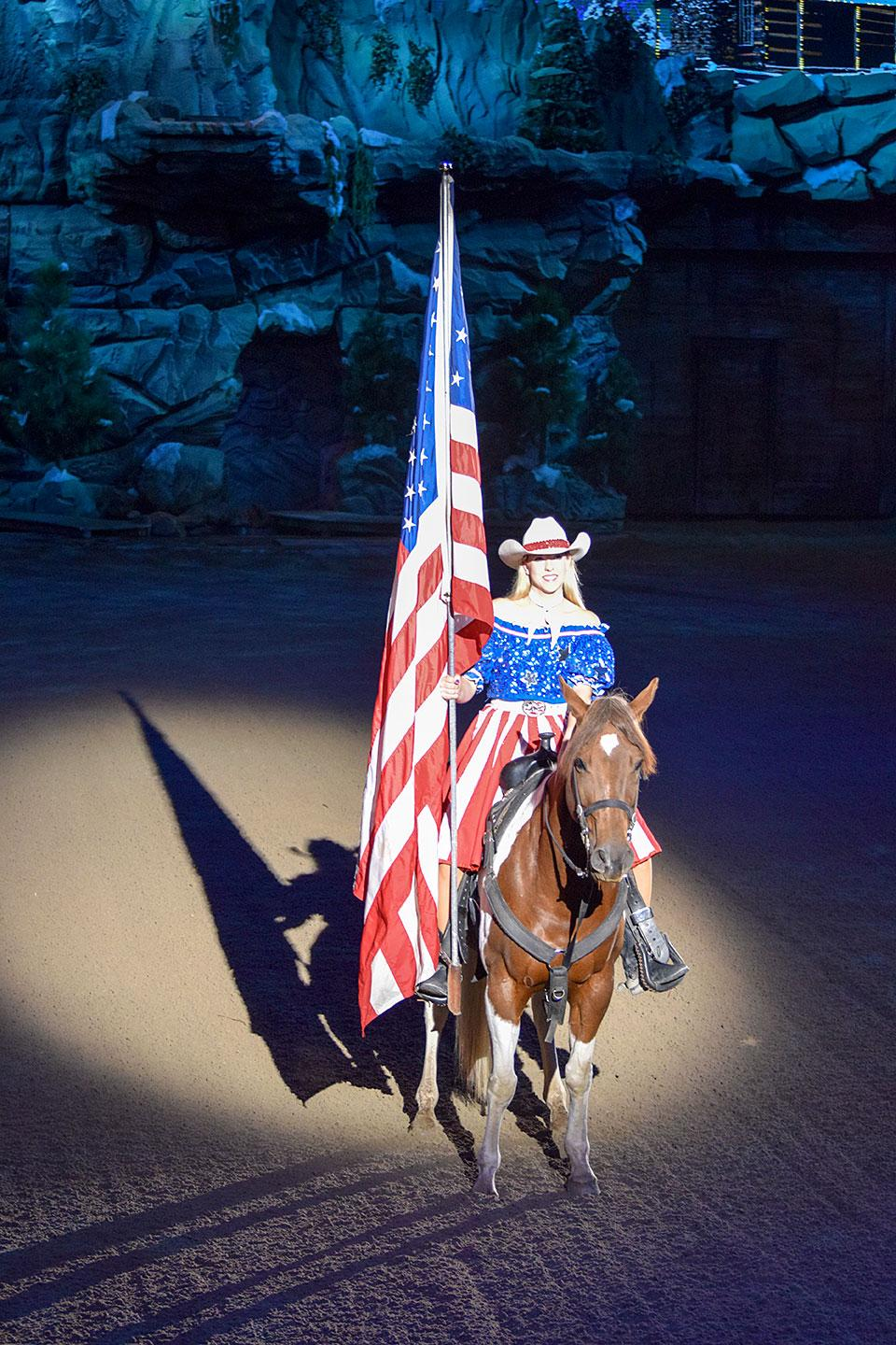 American Flag Dolly Parton's Stampede