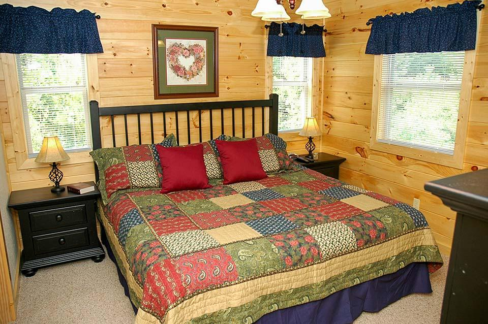 Sleep in spacious comfort at your next cabin in the Smoky Mountains.