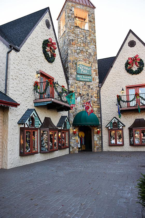 Christmas Place Bell Tower Entrance