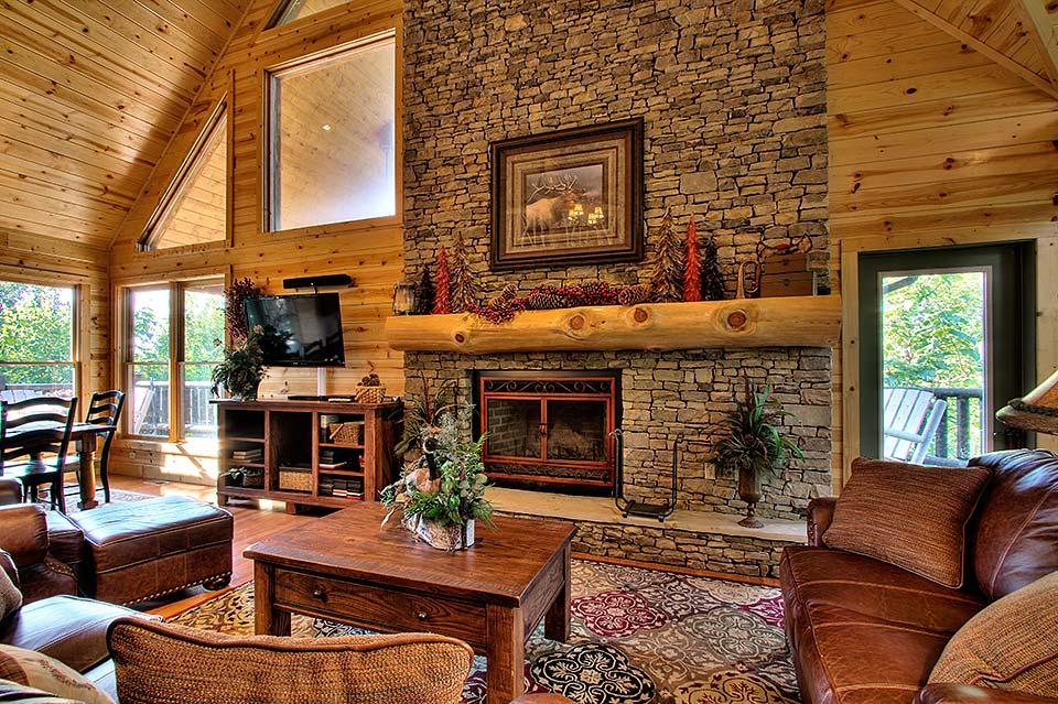 Spacious living room in the Smoky Mountains