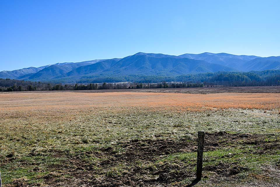 Cades Cove in wintertime.