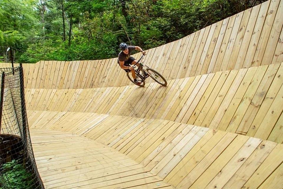 Biking at Climbworks