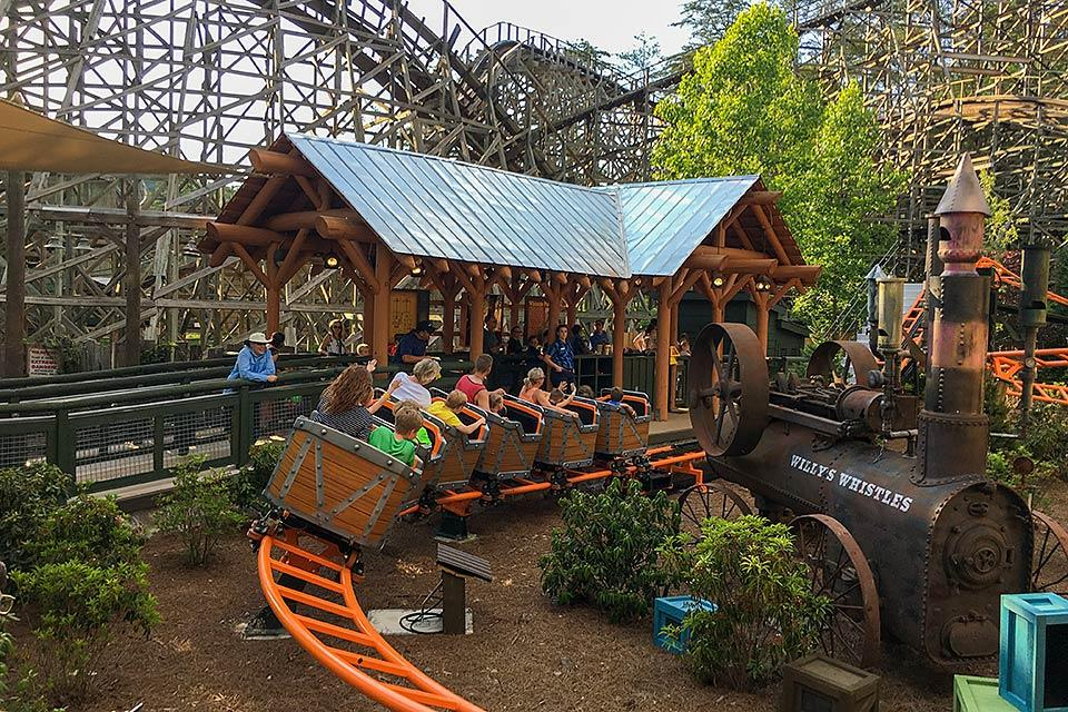 Coaster at Dollywood near Thunderhead
