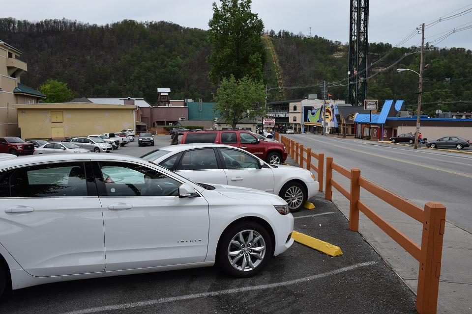 Parking Lots in Gatlinburg,TN: Convention Center Public Parking