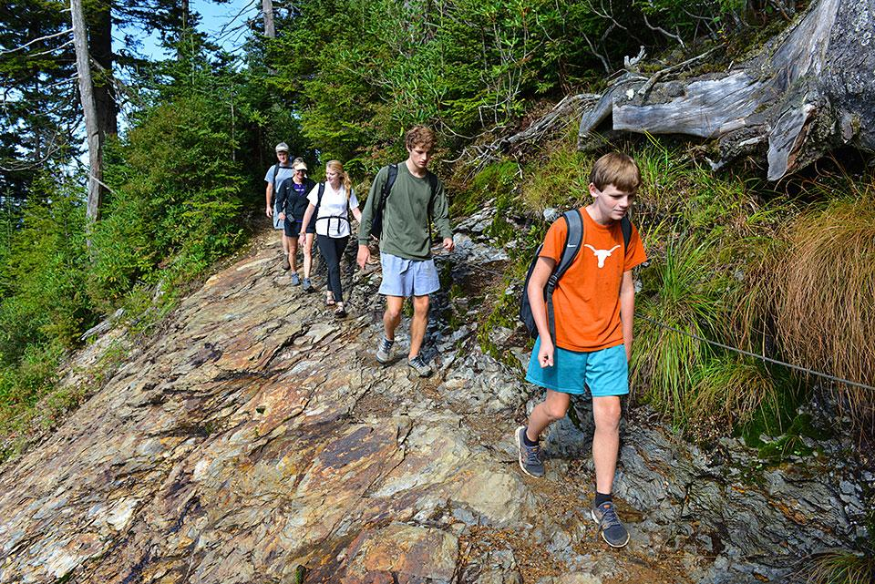 Family Hiking Trails offer all levels of challenge.