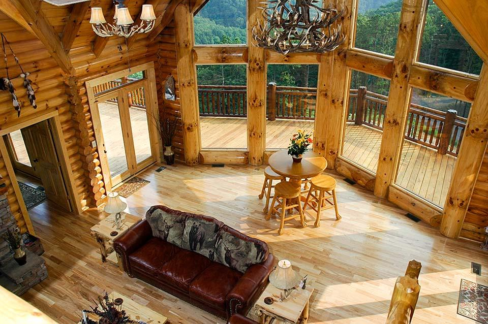 Great room with a view in a Smoky Mountain Cabin