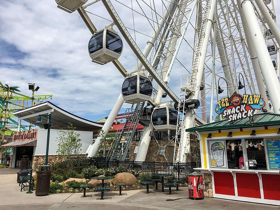 Take a scenic ride on the Wheel at the Island in Pigeon Forge.