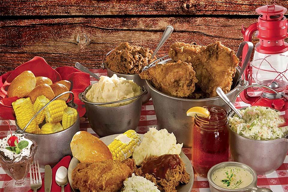 Plenty to eat at Hatfield and McCoy Dinner Feud.