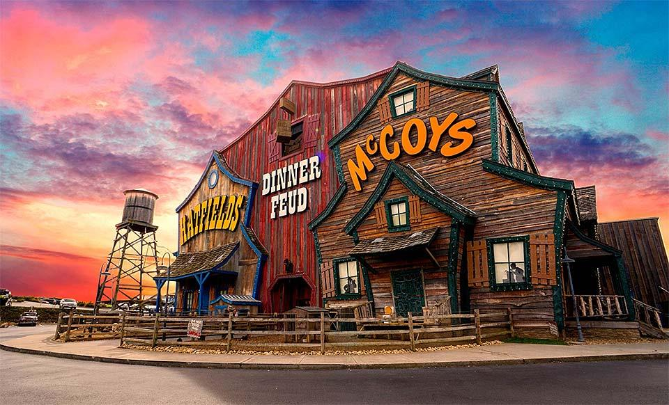 Family fun at Christmas time at Hatfields and McCoys Dinner theater