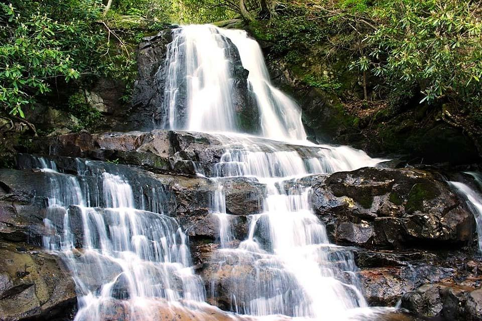 Laurel Falls in the Smoky Mountains is a great family hike.