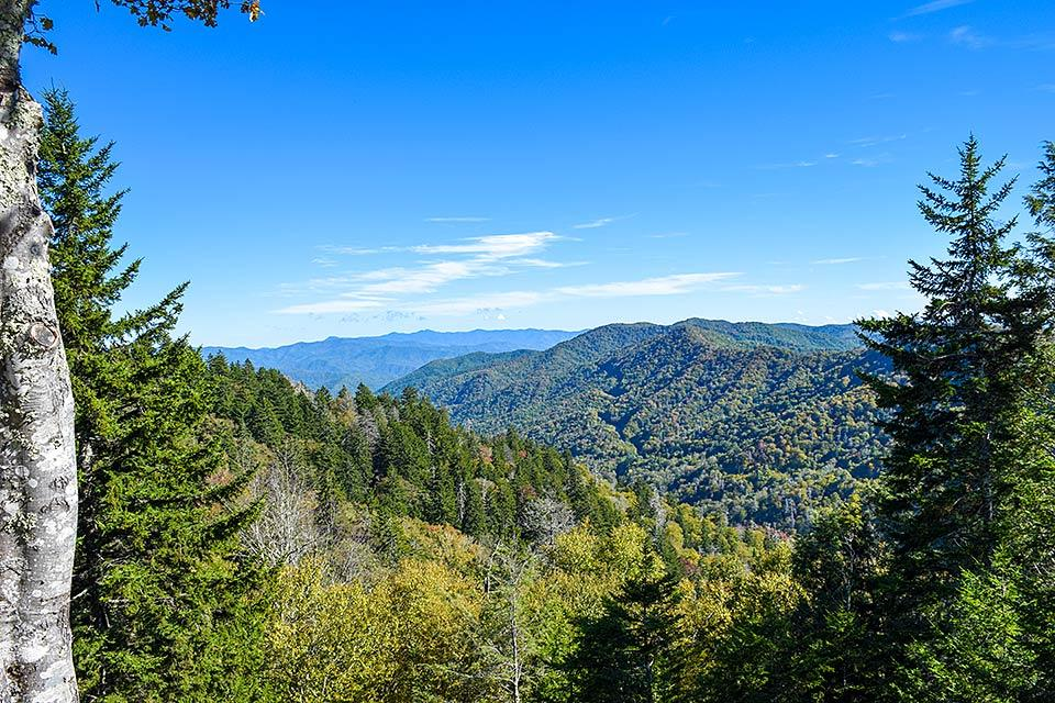 View from Cumberland Gap in the Smoky Mountains