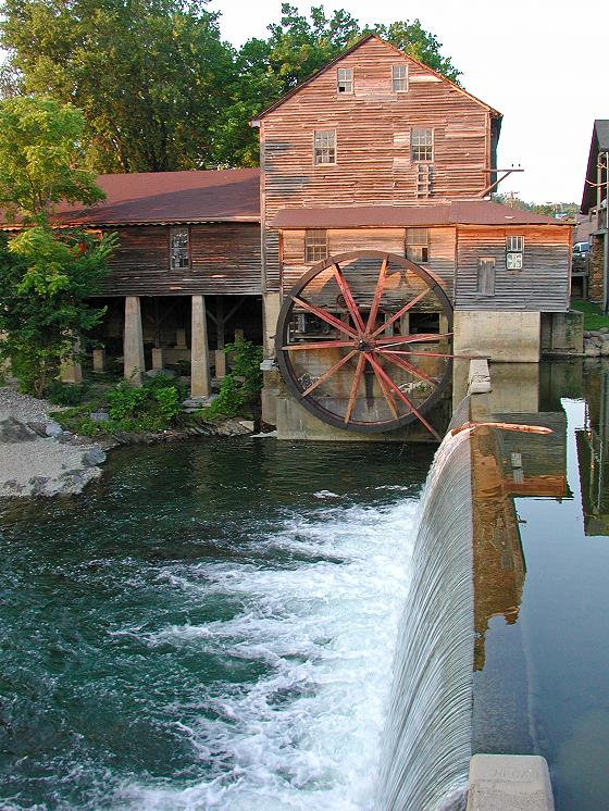 The Old Mill Gristmill and General Store in Pigeon Forge