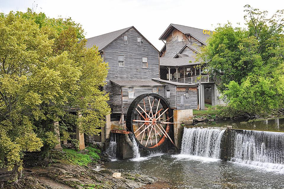 Old Mill Pigeon Forge Tennessee-iconic photo location!