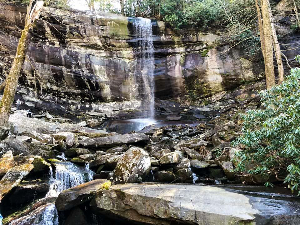 Rainbow Falls is a lovely hike destination on the Roaring Fork Motor Nature Trail.