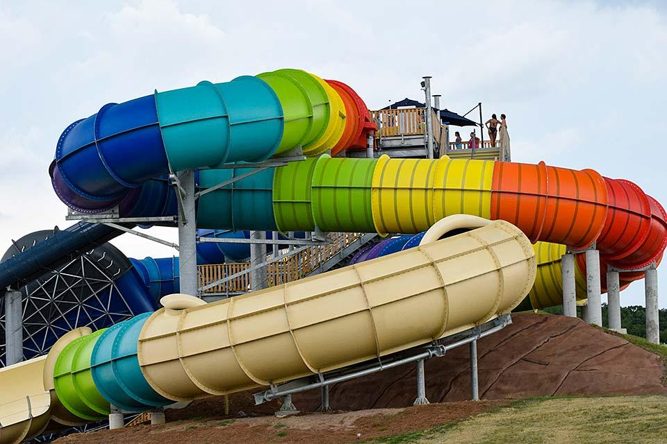 Large slide for multiple riders at same time.