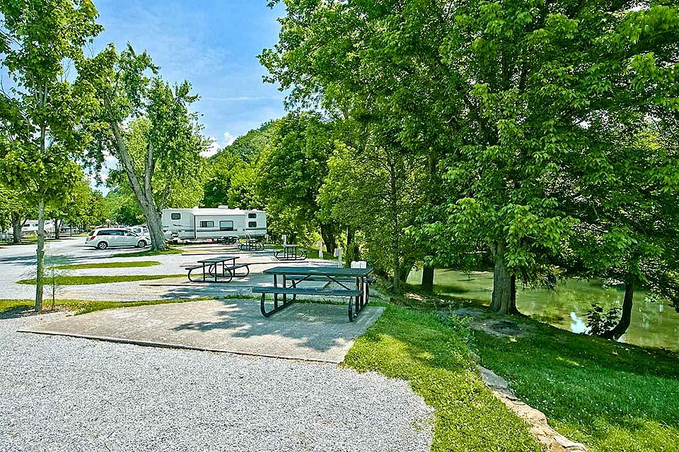 Riverside campground offers plenty of water fun.