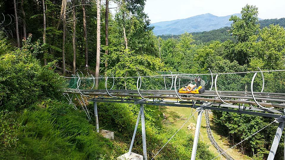 Smoky Mountain Alpine coaster located in Pigeon Forge, Tennessee.