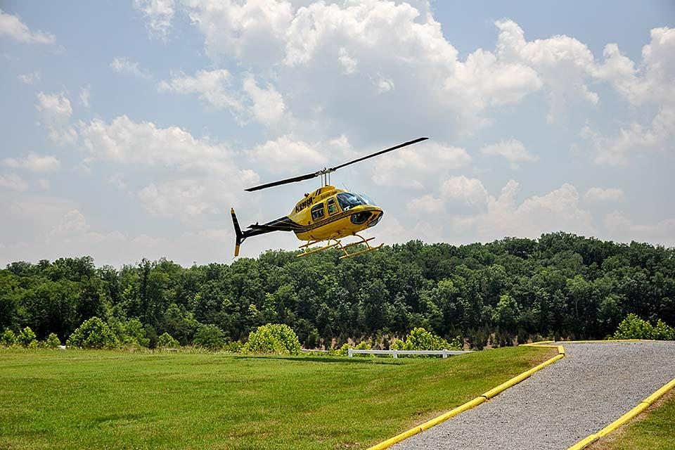 Ride in a helicopter over the Smoky Mountains