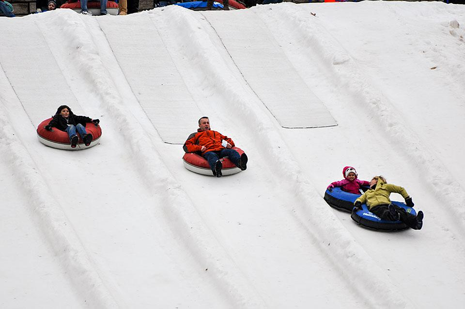 Ober Gatlinburg Snow Tubing Outside