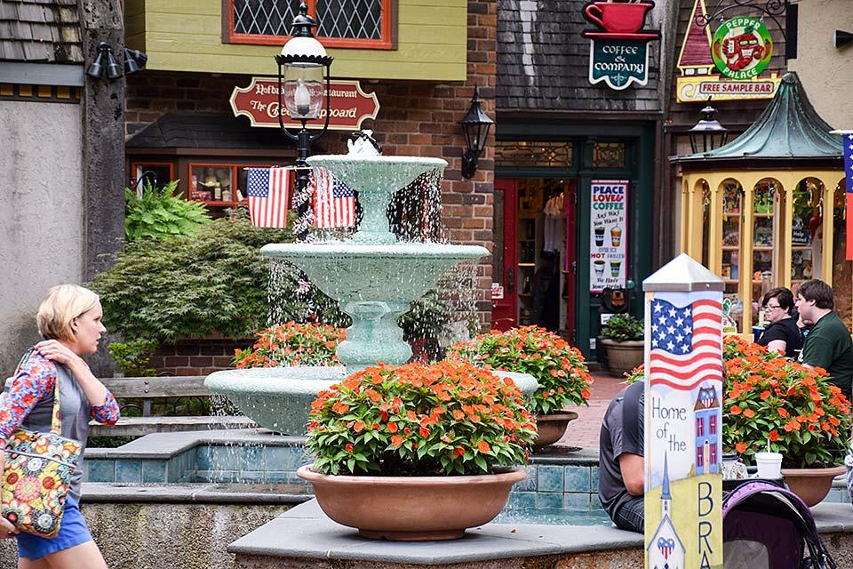 Shop in a lovely atmosphere at the Village in Gatlinburg.