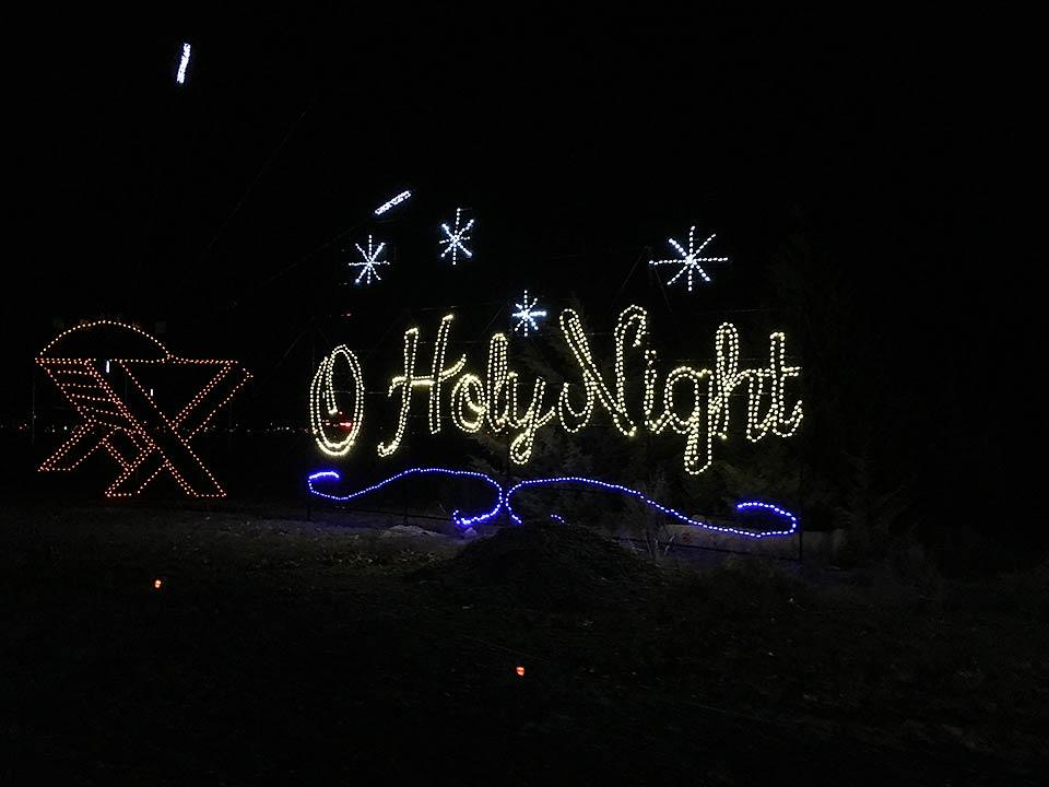 Winterfest light displays in the Smoky Mountains